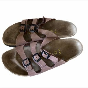 Birkenstock Beige Slip On Sandals 40